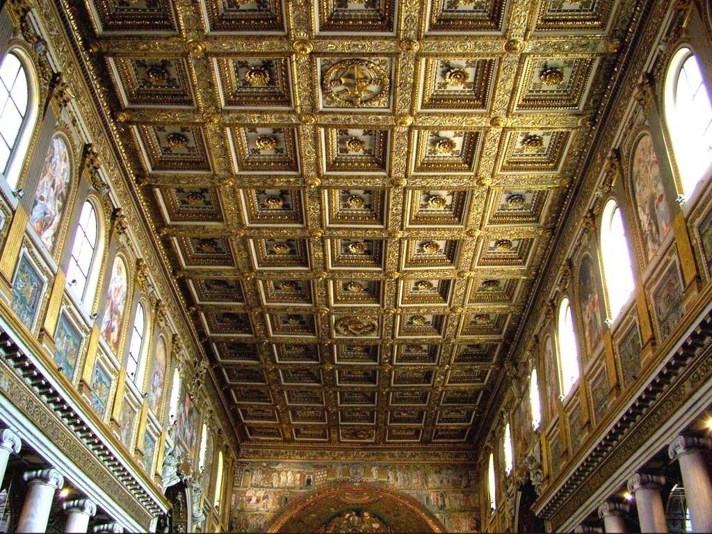 Kazettás mennyzet Rómában - Santa Maria Maggiore bazilika